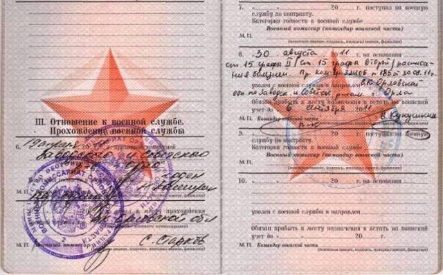 Статьи в военном билете и их расшифровка - перечень статей
