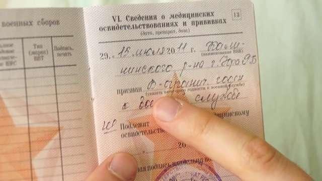 Статья 62 б в военном билете - расшифровка статьи